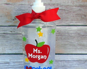 Teacher- Personalized Hand Sanitizer- Gift-School Days-Personalized Teacher Gift- Teacher Gift- Desk Hand Sanitizer-End of School-
