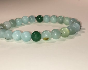 Amazonite and Aventurine Mala Bracelet Fidget Worry Beads