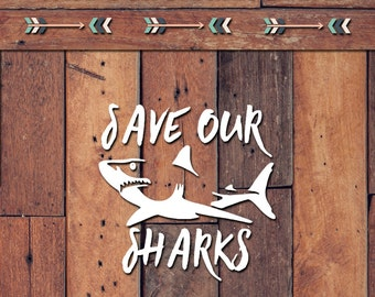 Save Our Sharks Decal | Yeti Decal | Yeti Sticker | Tumbler Decal | Car Decal | Vinyl Decal