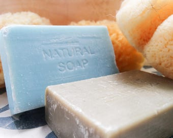 Greek Olive Oil & Jasmine Soap with Sea Sponge