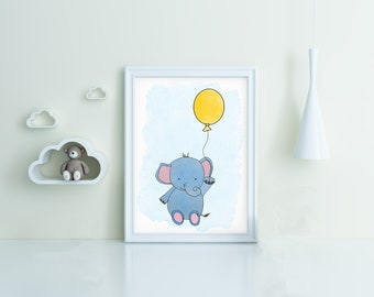 digital download elephant nursery art