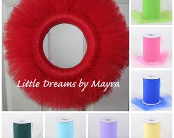 Tutu wreath available in 30colors, DIY tutu wreath, Party decoration, birthday party supplies