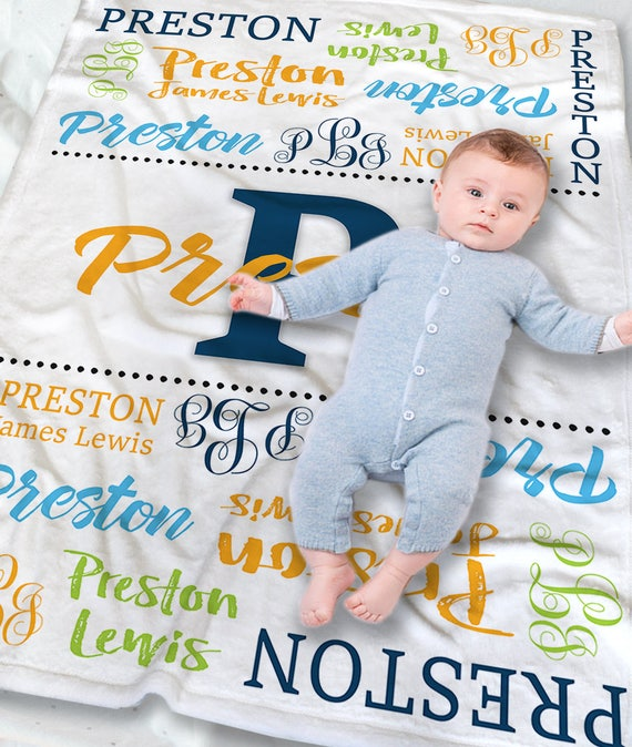 Personalized Baby Blanket Boy Baby Blanket With Name New
