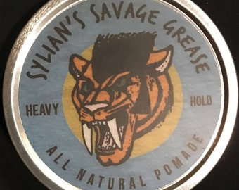 Sylian's Savage Grease - All Natural Pomade - Heavy Hold