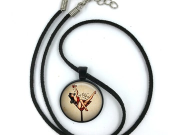 Sailor Jerry Necklace, Nautical Pendant,Rockabilly Necklace, Sailor Jerry,Retro Pendant,Pinup Necklace, tattoo,gift for wife,gift for her 17