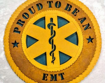 EMT Wall Plaque Wooden Model