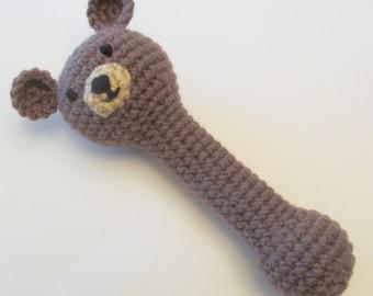 Teddy Bear Rattle PDF Crochet Pattern INSTANT DOWNLOAD