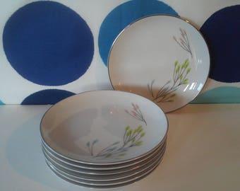 Vita Craft Symphony Pattern Bavaria, Germany China-Mid Century China- 7 Bread/Dessert Plates