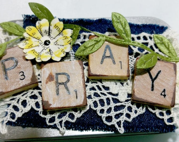 Featured listing image: Denim & Lace Prayer Box