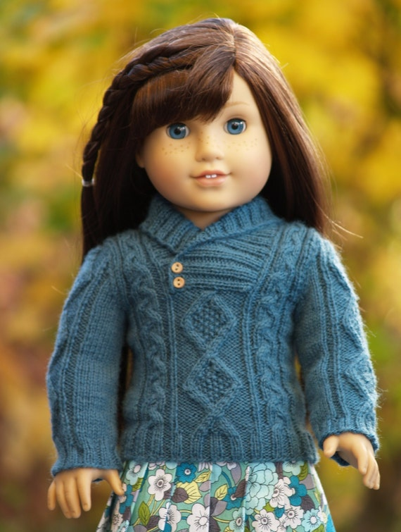 Crossover Collar Aran Ag Pdf Knitting Pattern For 18