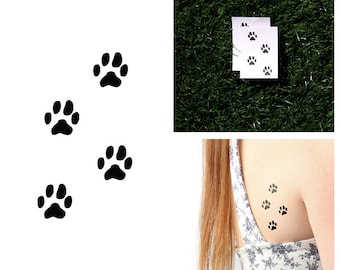 Tattify Paw Print Temporary Tattoo - On Track (Set of 2)