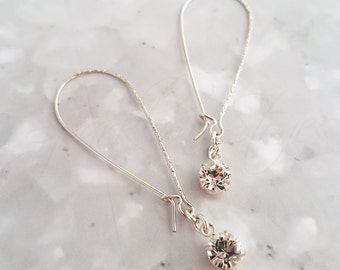 Swarovski Crystal Earrings, Crystal Drop Earrings, Swarovski Earrings, April Birthstone, Crystal Earrings