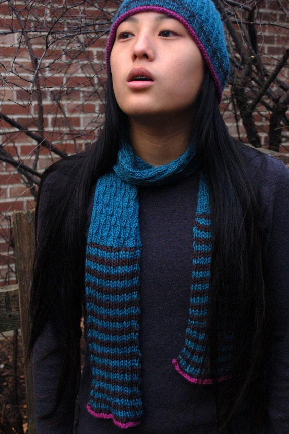 Hand Knit Scarf And Hat Easy To Knit Hat And Scarf Textured