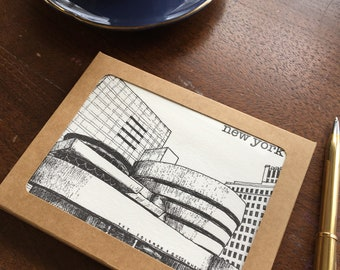 New York City Letterpress Architecture & Landmarks Blank Notecards