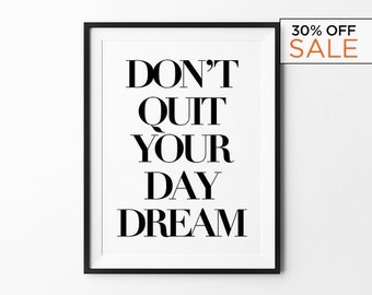 Motivational Poster, Wall Art Prints, Black and White Art, Typography Print, Scandinavian Art, Minimalist Art, Inspirational, Quote Prints