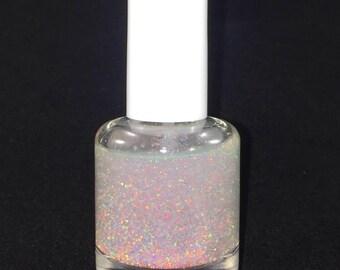 Crushed White Opal Nail Polish 10 Free 15ml Glass Bottle