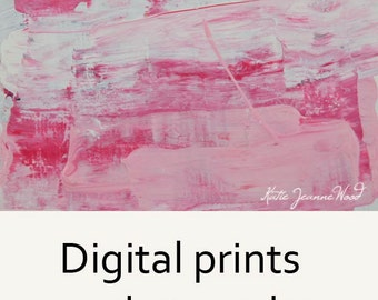 Pink & White Abstract Painting Print. Home Wall Art Print Decor. Gift for Her Apartment or House. 62