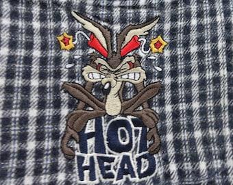 Vintage Wile E. Coyote flannel button down.