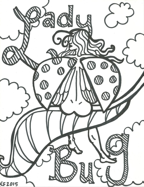 Adult Coloring Book Trippy Babes HD Digital Download 5 JPEG