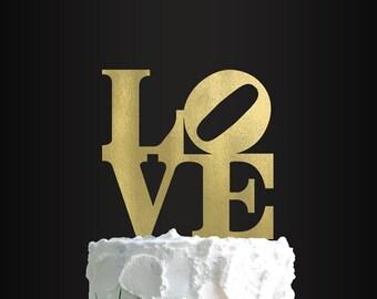 Wedding Cake Topper, LOVE Sculpture Cake Topper, Love, Cake Topper, Wedding Decor, Cake Decorating, Party Decor, Anniversary Party