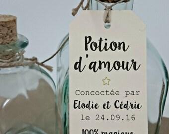 """20 labels """"Love Potion"""""""