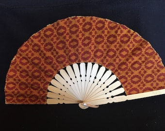 Sturdy hand-held fan. Instant cooling. Perfect size for handbags, glove-boxes or on a bench. The perfect 10 inches for any woman.