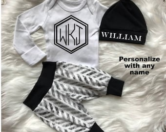 Baby boy coming home outfitbaby boybaby shower giftnewborn baby boy coming home outfitbaby boybaby shower giftnewborn boy personalizedbaby boy clothesbaby hatexpecting mom new mombaby gift negle Images
