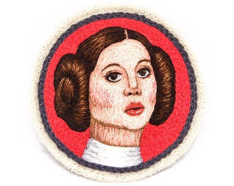 Leia Organa Hand Embroidered Patch Art