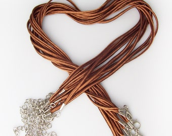 """Brown """"Bailey"""" Necklaces 17-19"""" inch 3mm - Choose 10 or 25"""