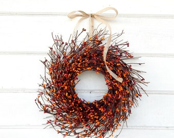 MINI TWIG WREATH-Fall Wreath-Pumpkin Spice Mini Window Wreath-Wall Decor-Fall Wreaths-Farmhouse-Rustic Home Decor-Table Centerpiece-Gifts
