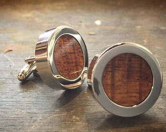 Hawaiian Koa Wood Cufflinks