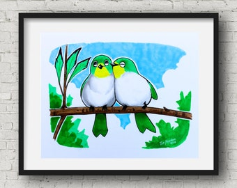 Love birds Art Print 8x10