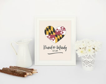 maryland love // wedding sign // printable file // custom