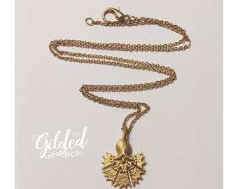 Mila Flora Necklace — gold-plated, gold hand-carved flower Turkish feminine delicate nashville boho gypsy bride wedding layering sume floral