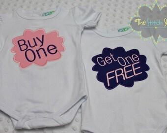 Twins Buy One Get One Free Onesie Set