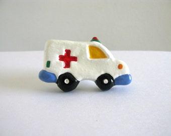 Ambulanz-Regler - Keramik lackiert Kommode Schublade Knopf für Kinderzimmer