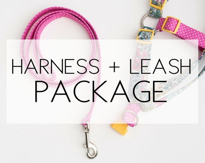 Featured listing image: Any Harness + Leash Package -please note the pattern(s) of your choice at checkout