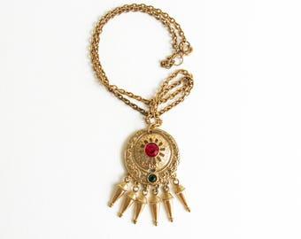 Diane Von Furstenberg DVF Vintage Gold Tone Dream Weaver Necklace