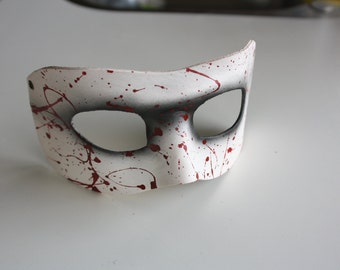 leather mask, blood spatter edition ( dexter ) ,made to order