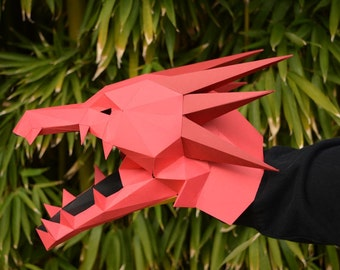 Dragon Puppet - Build a Hand Puppet with just Paper and Glue! Monster Puppet | Paper Puppet | Papercraft |