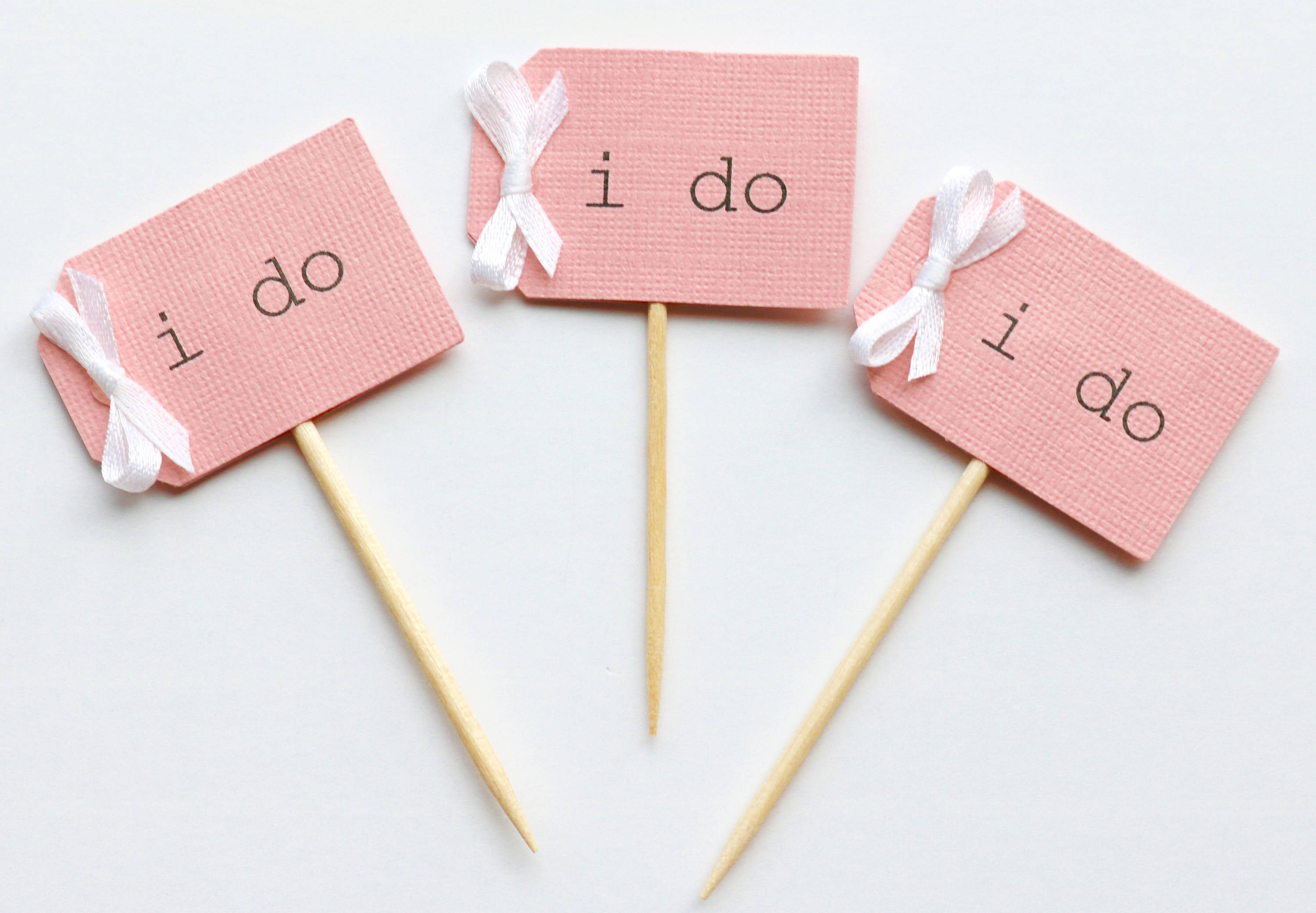 12 i do cupcake toppers beige with blush pink i do cupcake