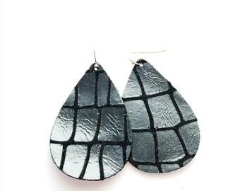 Metallic Scale Earrings