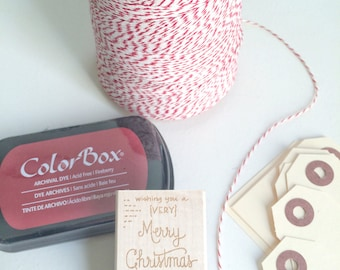 Personalized GIFT TAG Stamp