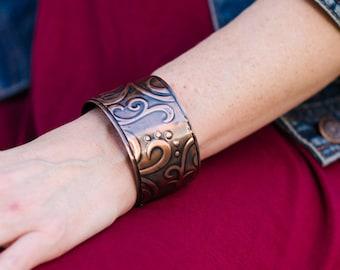 Rustic Cuff, Copper Cuff Bracelet, Abigail Cuff Bracelet