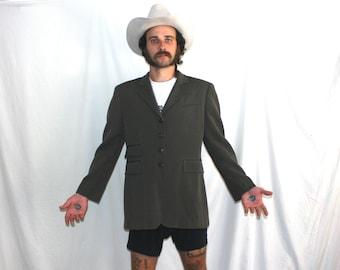 Polo Ralph Lauren Mens Designer Jacket. Worsted Wool Polo Mens Sport Coat Blazer Fashion.Polo Ralph Lauren Army Green Sport Coat Suit Jacket