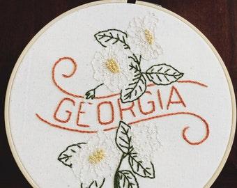"""Georgia - Cherokee Rose 8"""" Hoop"""