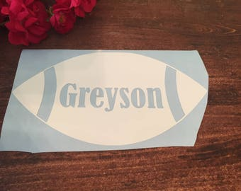Football Decal with Custom Name