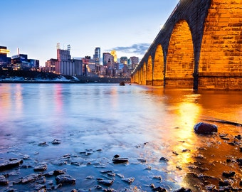 Stone Arch and Minneapolis Print