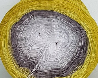 "Gradient yarn ""snowdrops"""