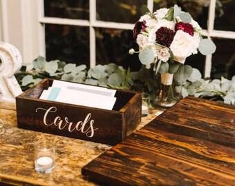 Wooden card box, Rustic Wooden Card Box, wedding card box